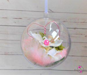 Hängekugel mit Blume 8cm